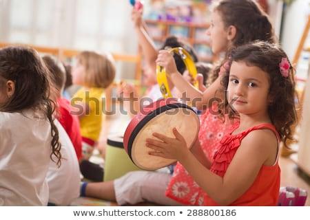 четыре девочек играет музыкальные инструменты иллюстрация гитаре Сток-фото © colematt