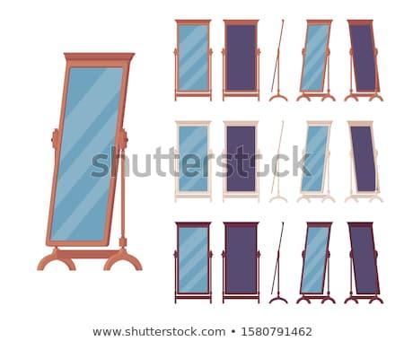 Ayna ayarlamak vektör yalıtılmış karikatür örnek Stok fotoğraf © pikepicture
