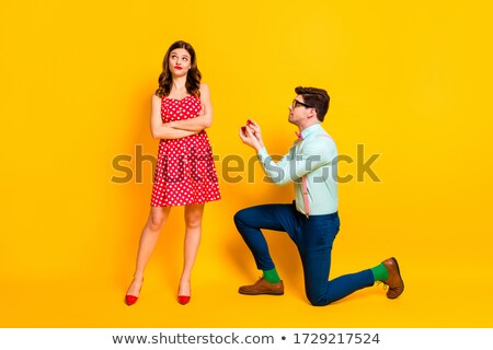 gentleman is thinking with legs crossed and hands folded Stock photo © feedough