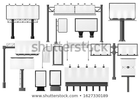 vector set of billboard stock photo © olllikeballoon