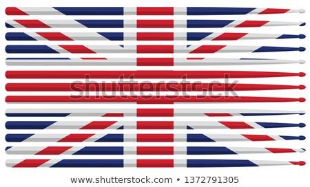 USA · brits · vlaggen · sterren - stockfoto © jeff_hobrath