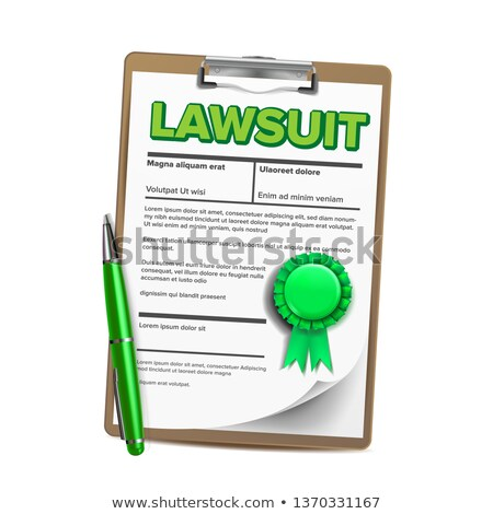 Lawsuit Paper, Legal Action, Document Vector Realistic Illustration Stockfoto © pikepicture