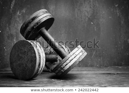 Bodybuilder in Gym with Barbell, Athlete with Mass Stock fotó © robuart