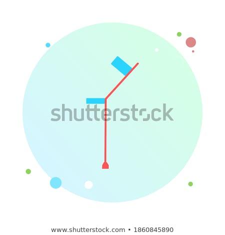 Krukken cirkel icon lang schaduw geneeskunde Stockfoto © Anna_leni