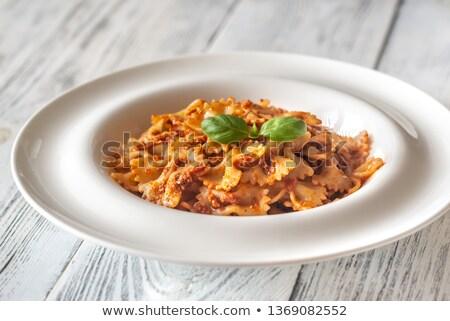pesto · bianco · tavolo · in · legno · alimentare · fresche - foto d'archivio © alex9500