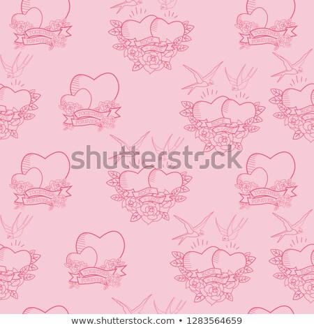 Rock And Roll Valentine Grunge Background stock photo © swatchandsoda