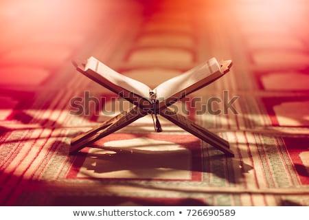 livre · ouvrir · bible · bois · autel - photo stock © suriyaphoto
