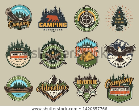color vintage summer season emblem stock photo © netkov1
