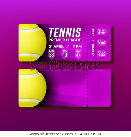 Ticket Tear-off Coupon Visit Tennis Match Vector Stock photo © pikepicture