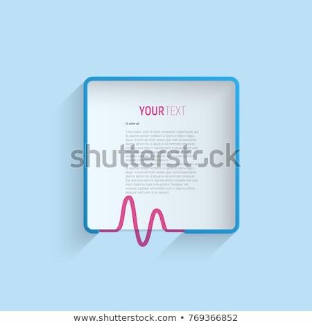 Tıbbi çerçeve örnek vektör kalp arka plan Stok fotoğraf © yo-yo-