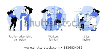 workout fashion concept vector illustration stock photo © rastudio