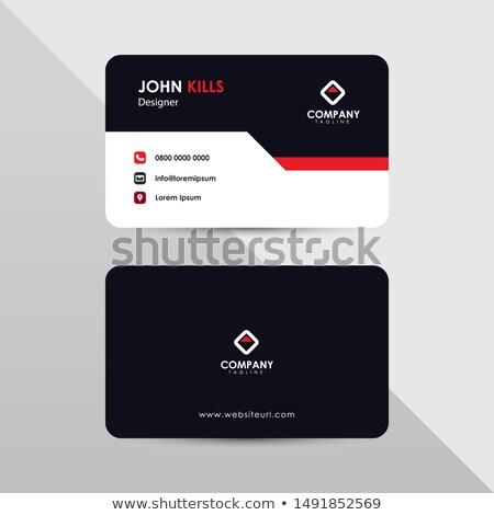 professional orange business card design Stock photo © SArts