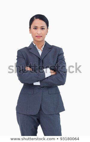 Stock photo: Young Confident Mixed Race Businesswoman In Elegant Suit