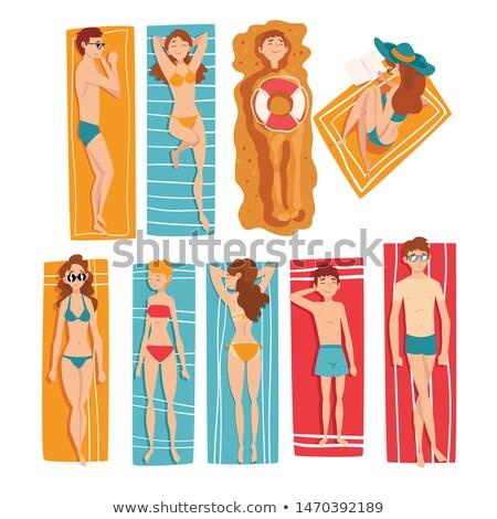 Hot lata symbolika człowiek kobieta Zdjęcia stock © robuart