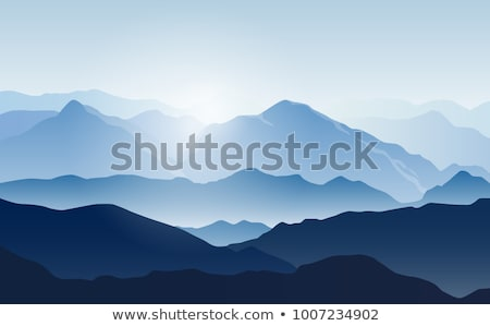Montagne paysage Rock pic brouillard nature Photo stock © vapi