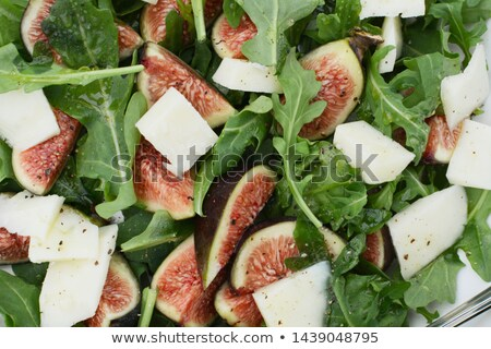 Fresh figs, pecorino cheese and green rocket Stock photo © sarahdoow