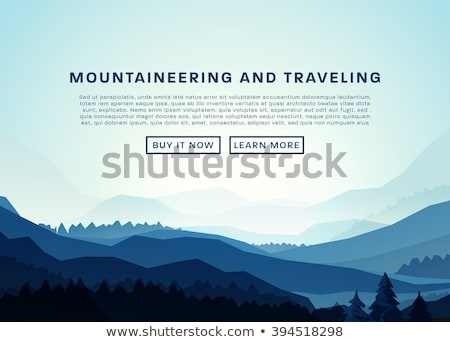mountains landscape background vacation and outdoor recreation concept vector stock photo © andrei_
