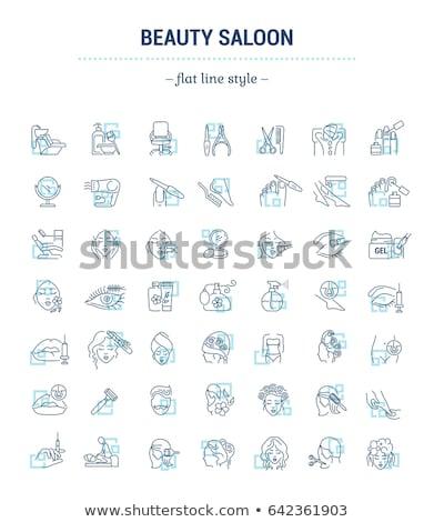 салон красоты службе набор вектора плакат текста Сток-фото © robuart