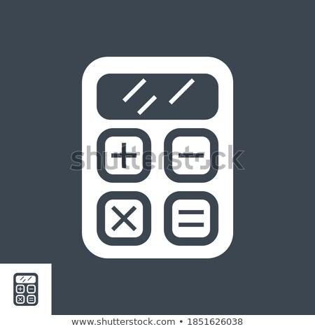 Stock fotó: Számológép · vektor · ikon · izolált · fehér · technológia