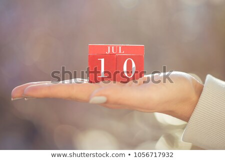 3D · cubos · naranja · cartas · verano · blanco - foto stock © oakozhan