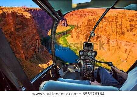 Légifelvétel Grand Canyon helikopter tájkép természet hegyek Stock fotó © dolgachov