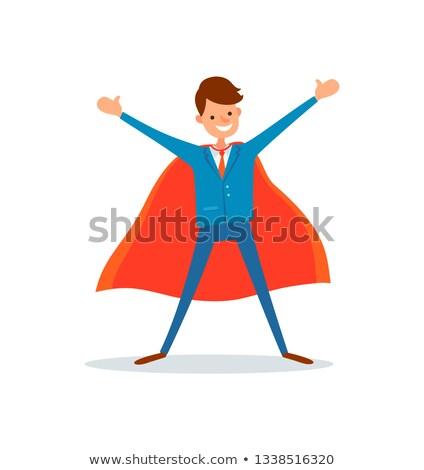 Homem herói negócio campo gênio empresário Foto stock © robuart
