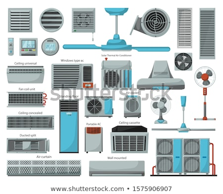 Portable Air Fan Cooling Equipment Vector Icon Stock photo © pikepicture