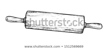 Rolling Pin For Dough Kitchenware Vintage Vector Stock photo © pikepicture