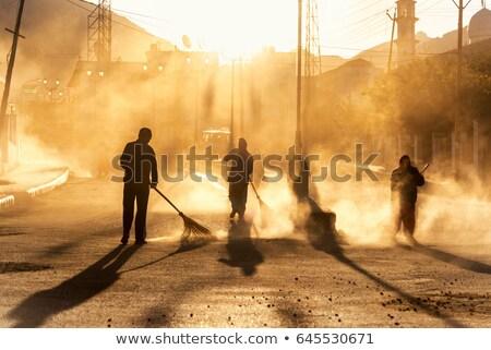 Insanlar temizlik kentsel park çöp üç Stok fotoğraf © robuart