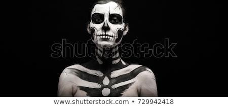 Bruna modello studio corpo vernice Foto d'archivio © epstock