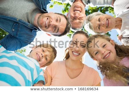 dankzegging · dag · pelgrim · paar · kinderen · kind - stockfoto © robuart