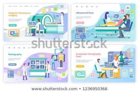 Orvosok beteg egészségügy kórház radiológia röntgen Stock fotó © robuart