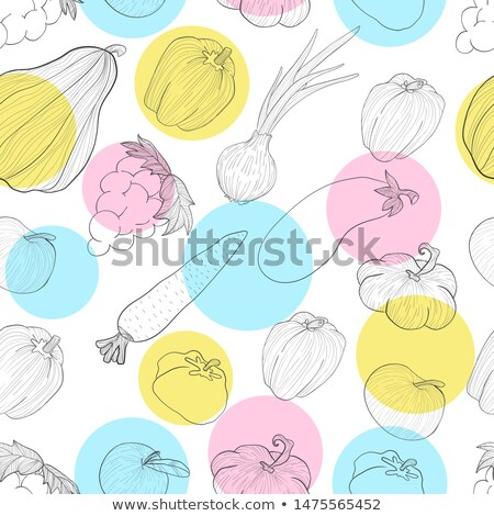 Outono padrão vetor linha arte pimenta Foto stock © frimufilms
