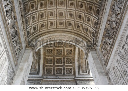 Sculpted roses and reliefs on the Arc de Triomphe Stock photo © sarahdoow