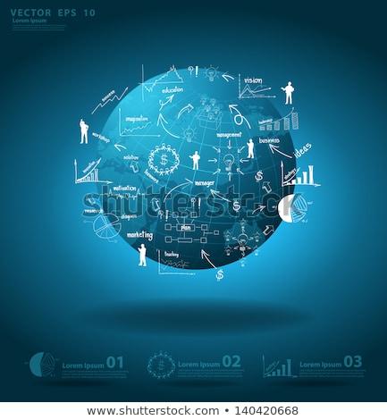 Handel online internationale bedrijfsleven wereldbol vector groep Stockfoto © robuart