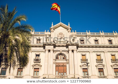 Facade of Palau Capitania General near Colom Avenue in Barcelona Stock photo © ShustrikS