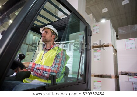 Fork lift and tablets Stock photo © Clivia