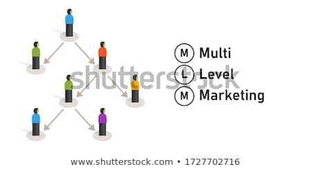 Niveau marketing tekst Blauw wereldkaart sociale Stockfoto © Mazirama