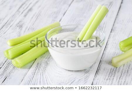 Aipo iogurte folha grego fundo cor Foto stock © Alex9500