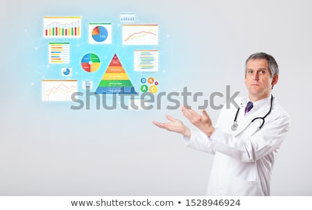 Nutritionist with nutrient intake concept Stock photo © ra2studio