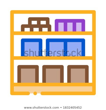basement cellar icon vector outline illustration Stock photo © pikepicture