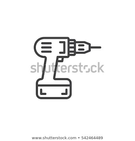 Fúró ikon vektor skicc illusztráció felirat Stock fotó © pikepicture