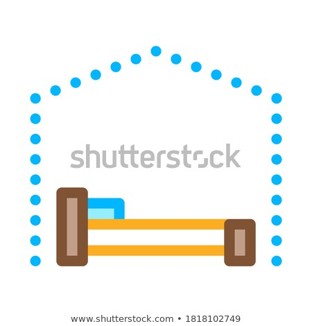 Bed Canopy Awning Icon Vector Outline Illustration Stock photo © pikepicture