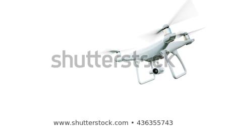 quadrocopter on white background. Isolated 3d illustration Stock photo © ISerg