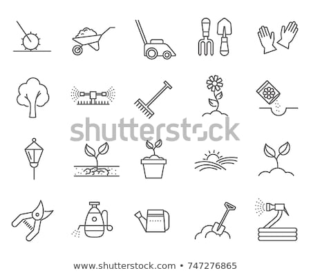 Farming Landscape Collection Icons Set Vector Stock photo © pikepicture