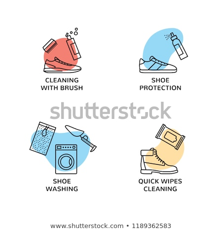 Shoe Clean Brush Icon Vector Outline Illustration Stock photo © pikepicture