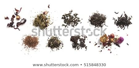 зеленый чай Top мнение белый цветок Сток-фото © butenkow