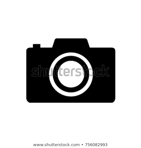 Cámara de vídeo silueta simple negro icono sombra Foto stock © evgeny89