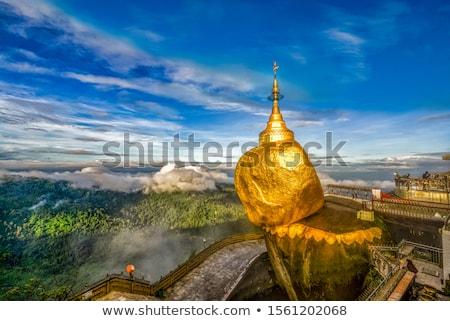 Golden Rock - Kyaiktiyo Pagoda, Myanmar Stock photo © dmitry_rukhlenko