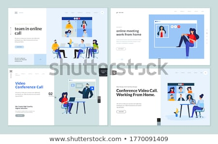 Web sayfa dizayn şablonları video çağrı Stok fotoğraf © PureSolution